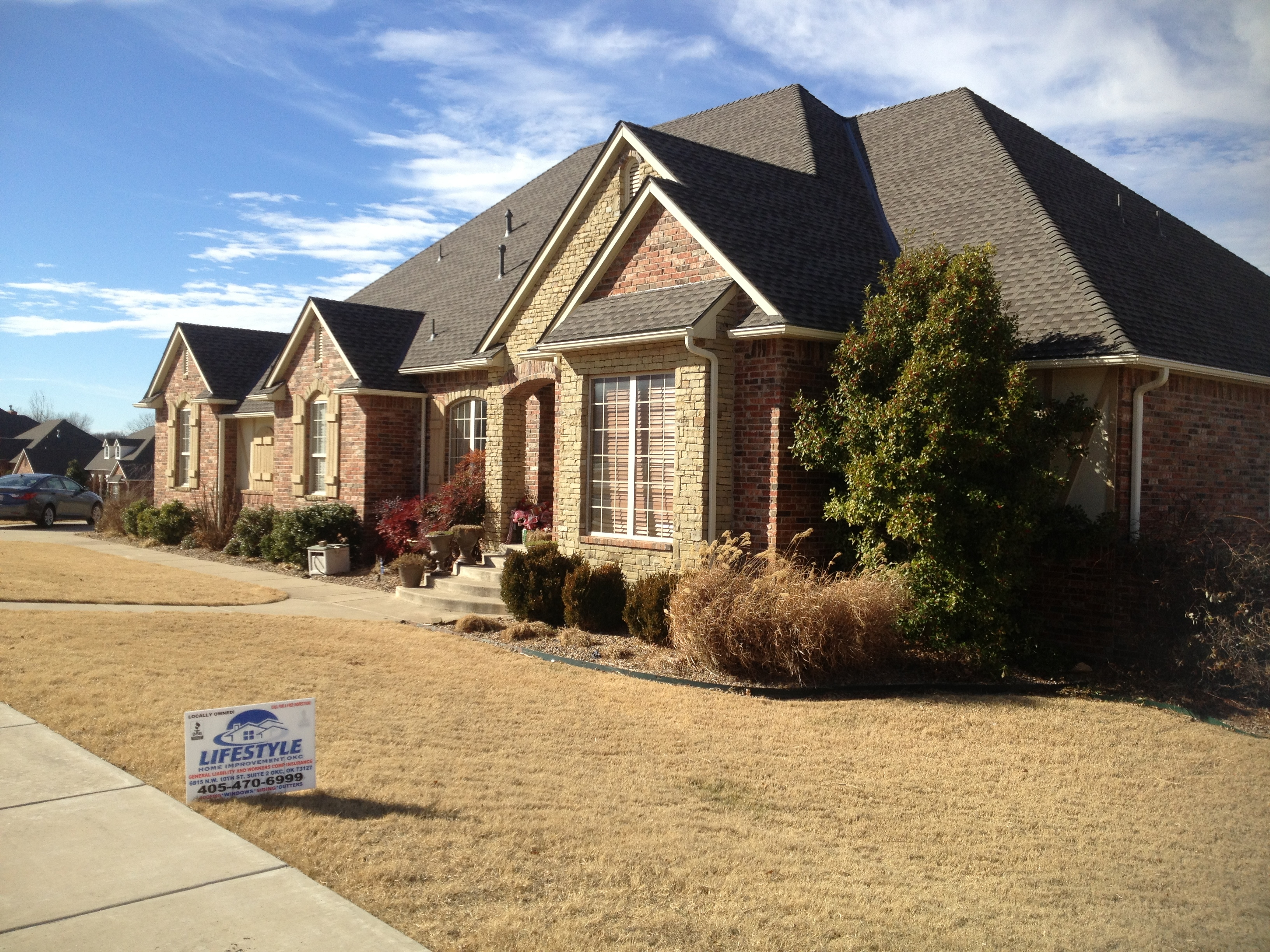 Lifestyle home improvement okc inc roofing and for Building a house in oklahoma