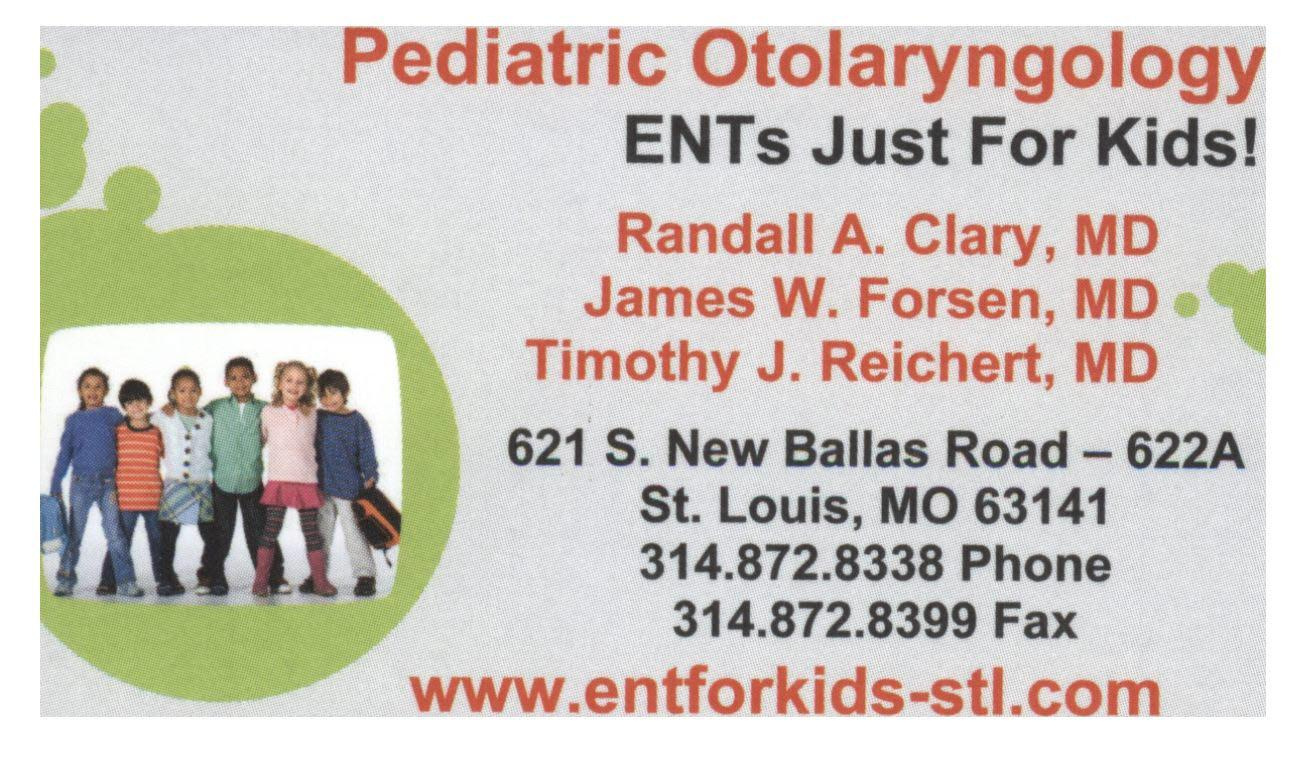 Pediatric Otolaryngology - ENTs Just For Kids!