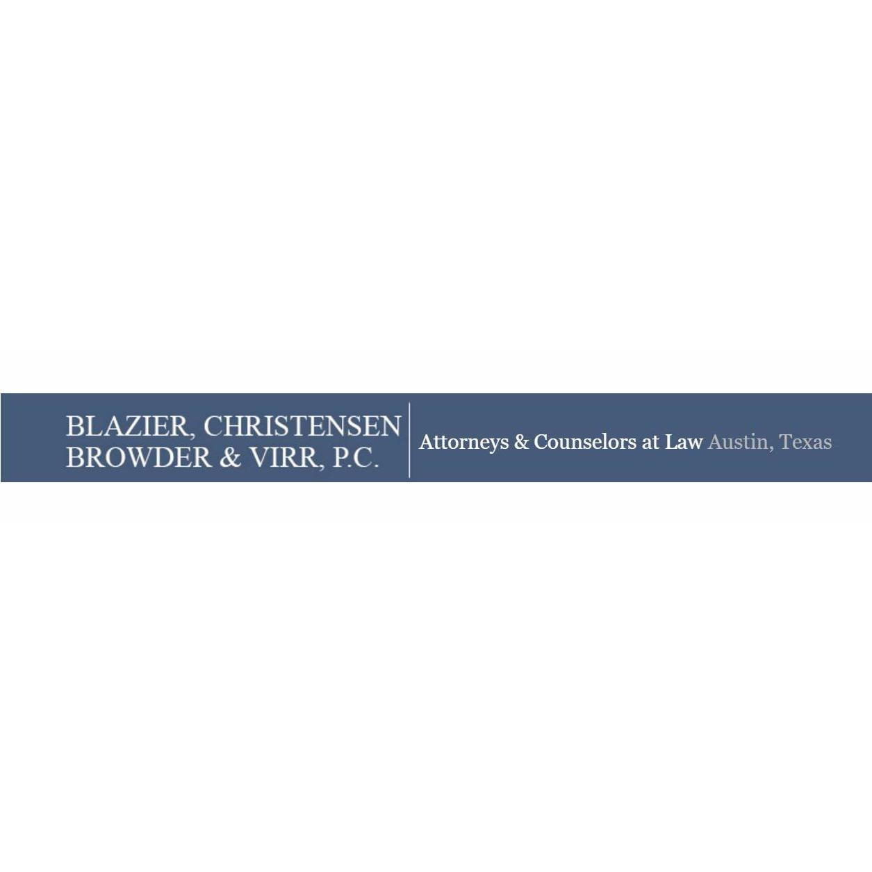 Legal Services in TX Austin 78746 Blazier, Christensen, Browder & Virr, P.C. 901 S. Mopac (512) 476-2622 (512)476-2622