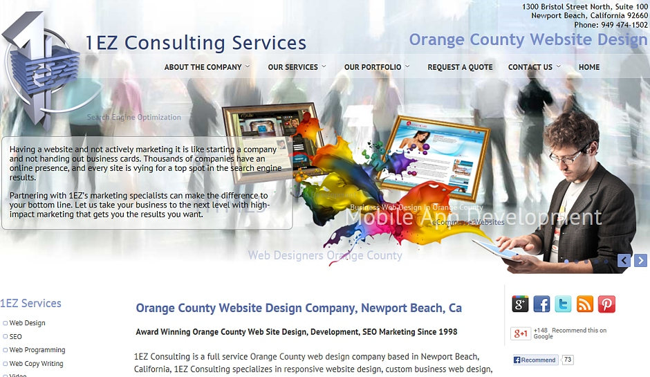 Orange county web design ca 1ez consulting newport for Web design consultant