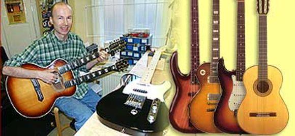 Kitara- ja bassohuolto Kristian Oesch
