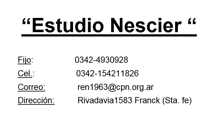 NESCIER EDILBERTO Y RENE ESTUDIO CONTABLE