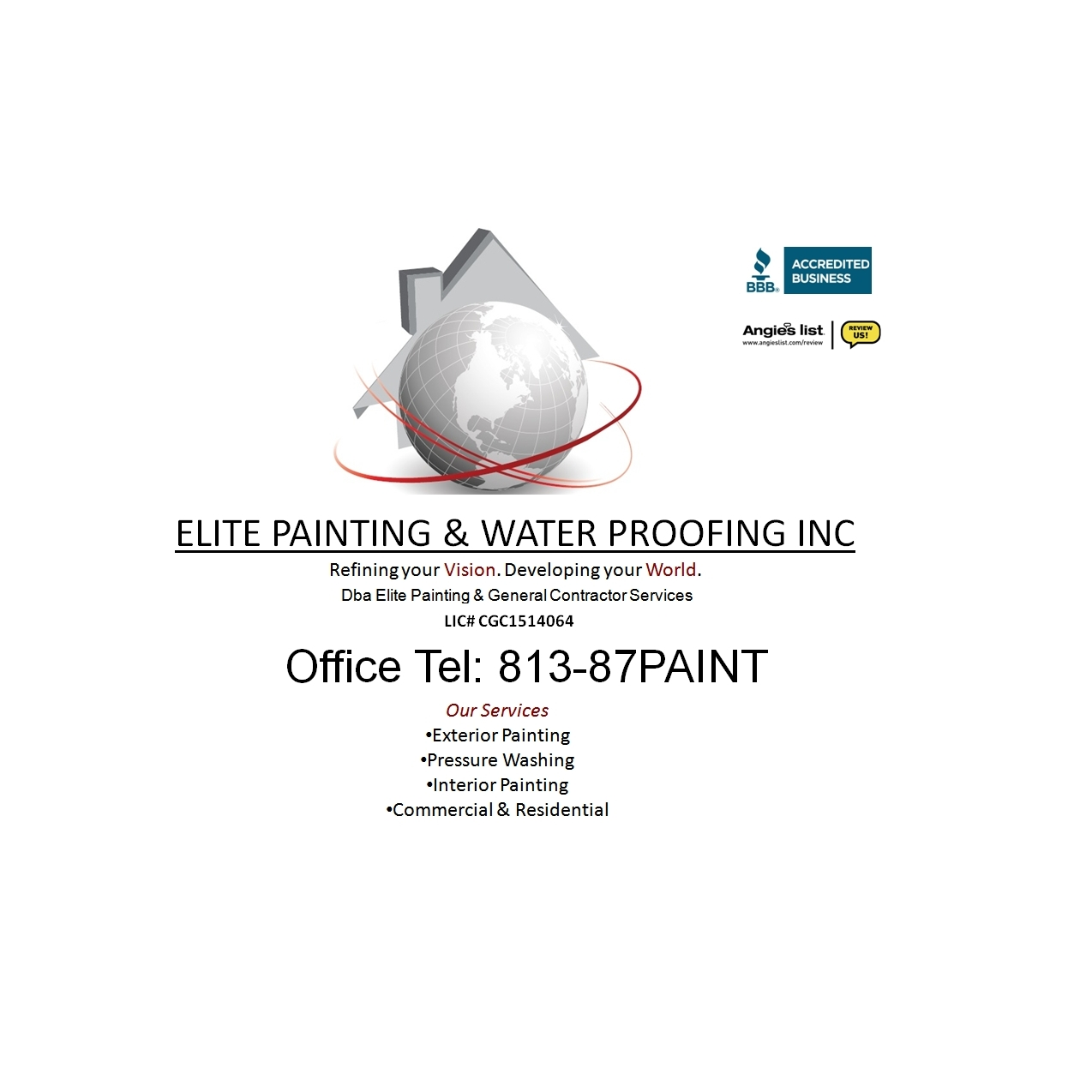 Elite Painting and Waterproofing Inc Dba Elite Painting & General Contractors Services Inc.