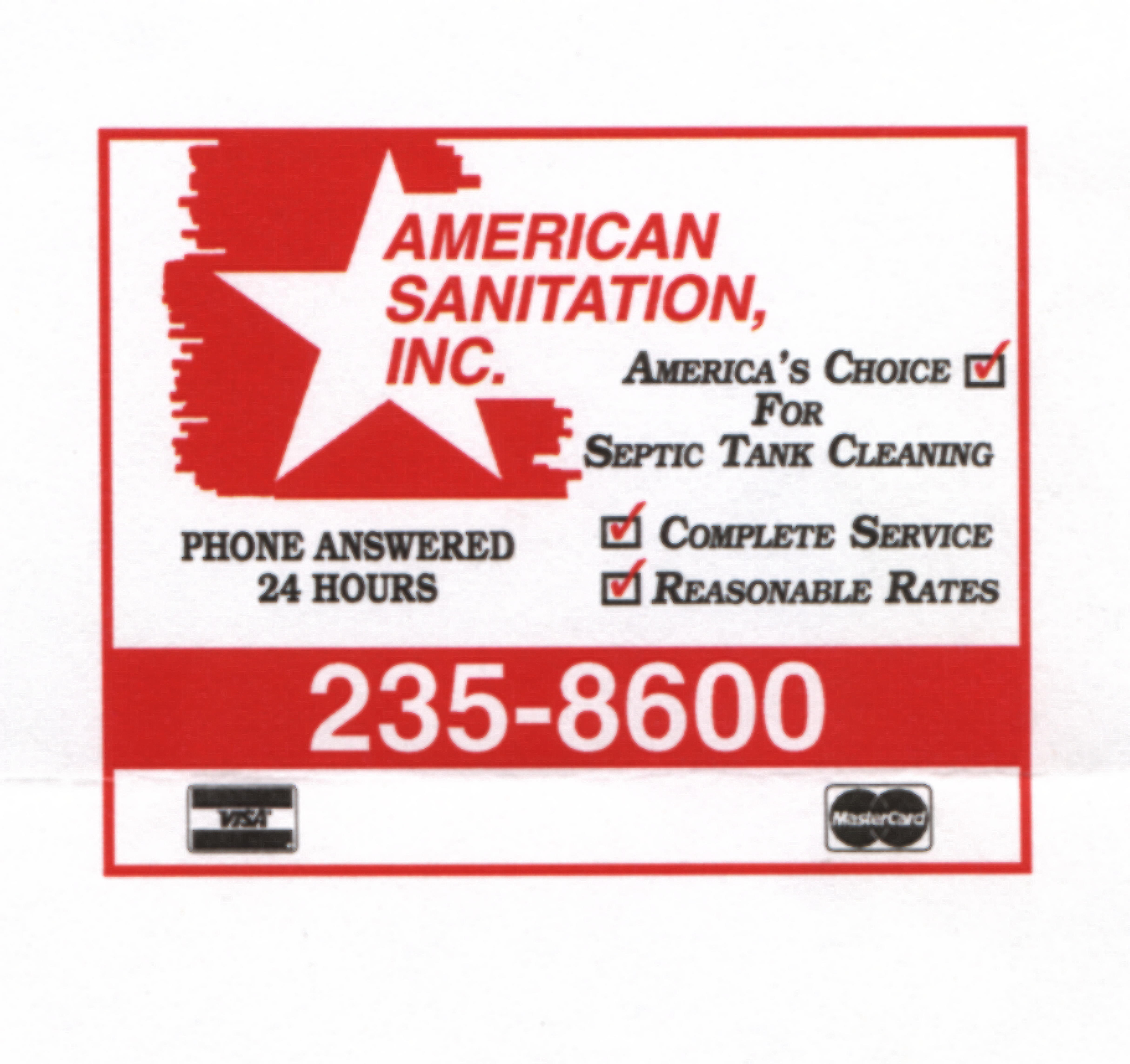 American Sanitation Inc Coupons Near Me In 8coupons
