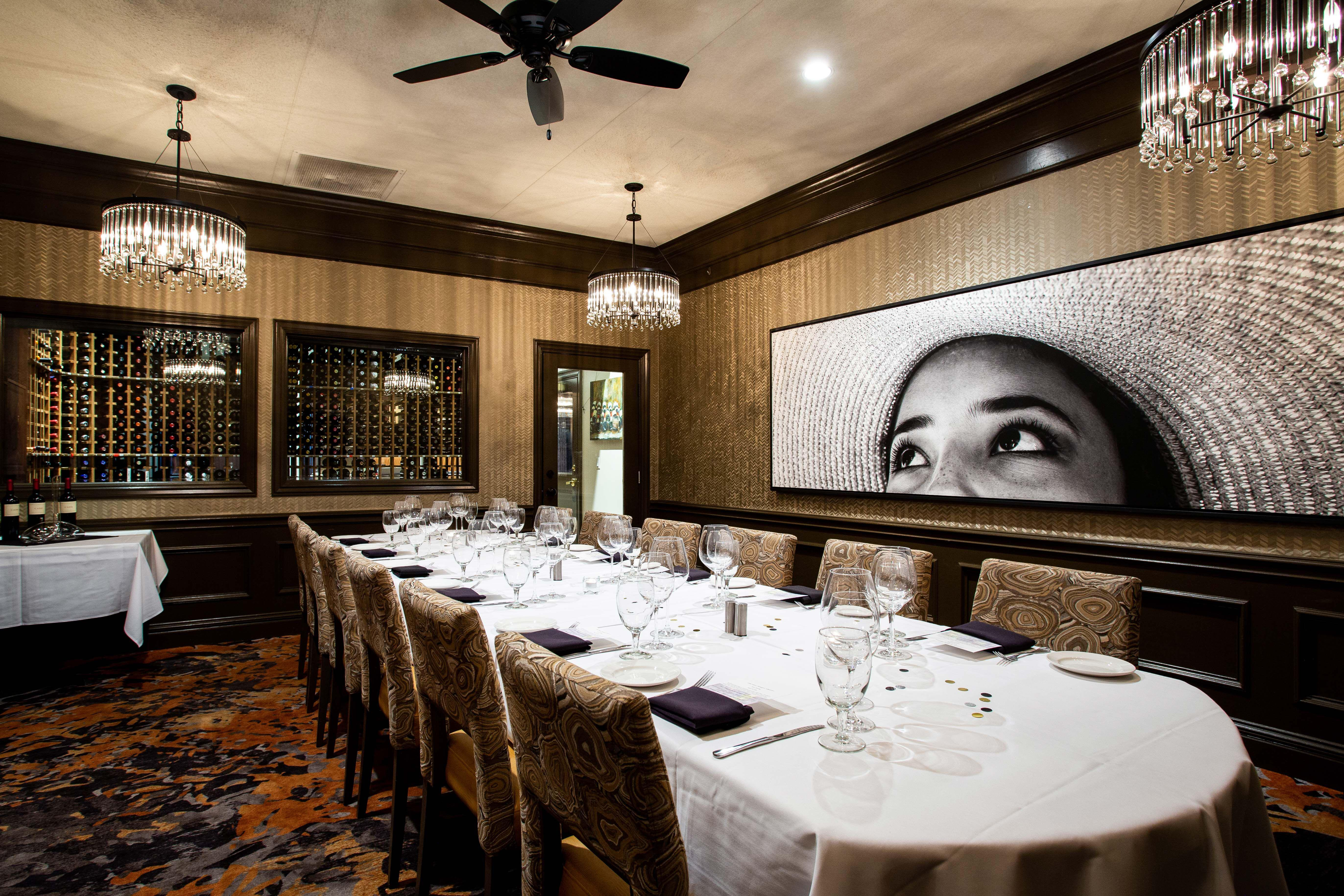Del Frisco's Double Eagle Steakhouse Denver Wine Room private dining room