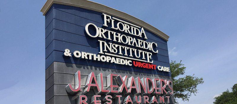 Florida Orthopaedic Institute & Orthopaedic Urgent Care South Tampa Signage