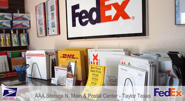 Aaa Storage N Main Postal Center In Taylor Tx 76574