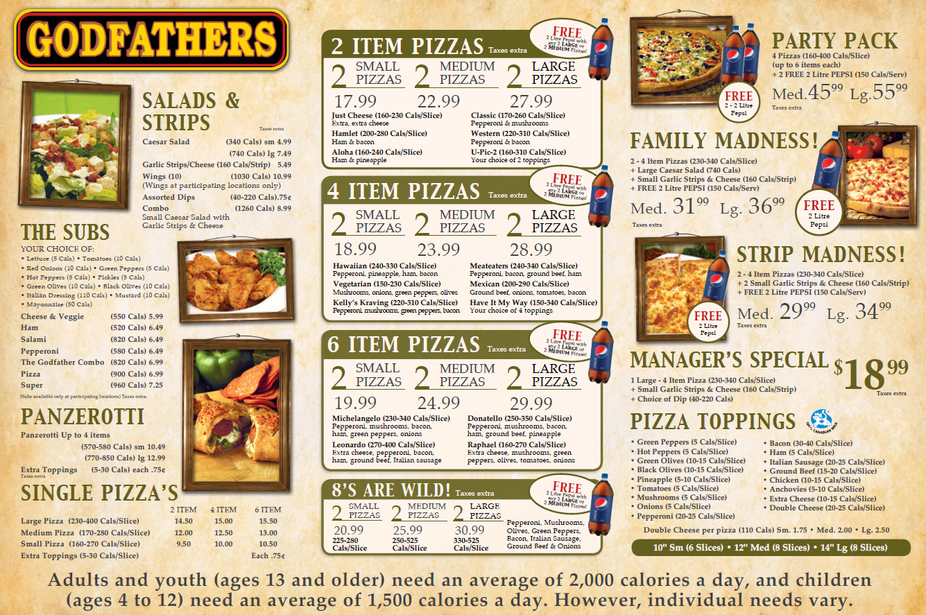 Images Godfathers Pizza - Cayuga
