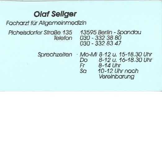 Bild zu Olaf Seliger, Facharzt für Allgemeinmedizin in Berlin