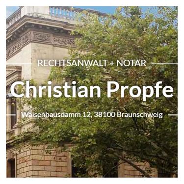 Bild zu Christian Propfe Rechtsanwalt und Notar in Braunschweig