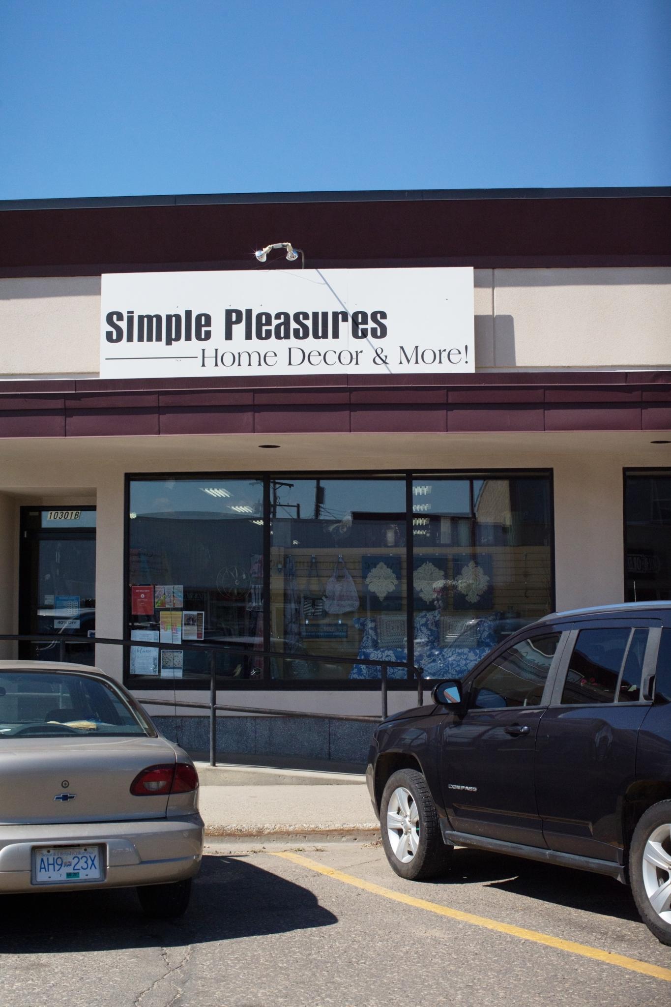 Simple Pleasures Dawson Creek (250)782-7420