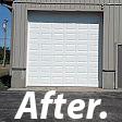 LG Exteriors Garage Doors - Farmersville, OH - After picture...complete garage door replacement.