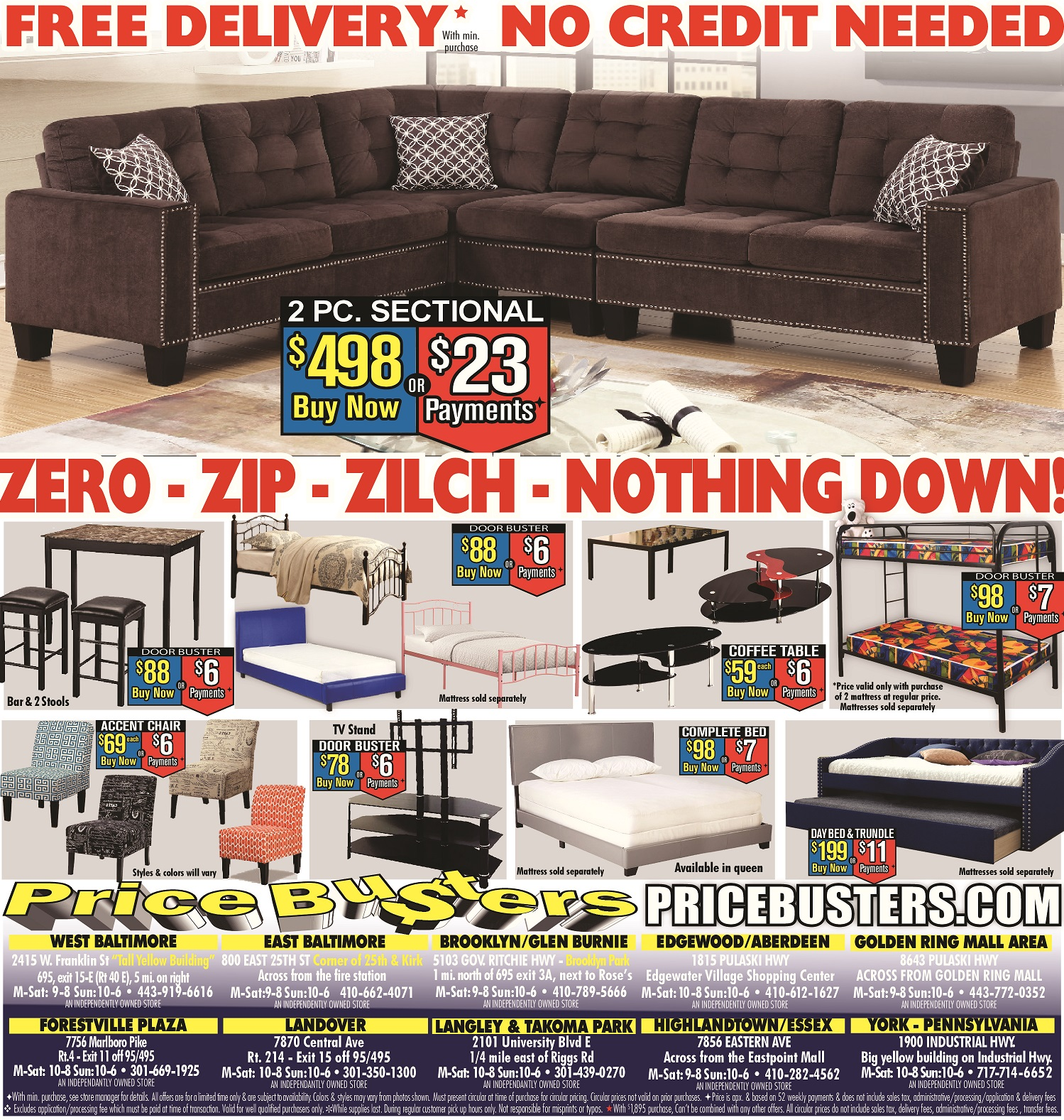 Price Busters Discount Furniture, Forestville Maryland (MD