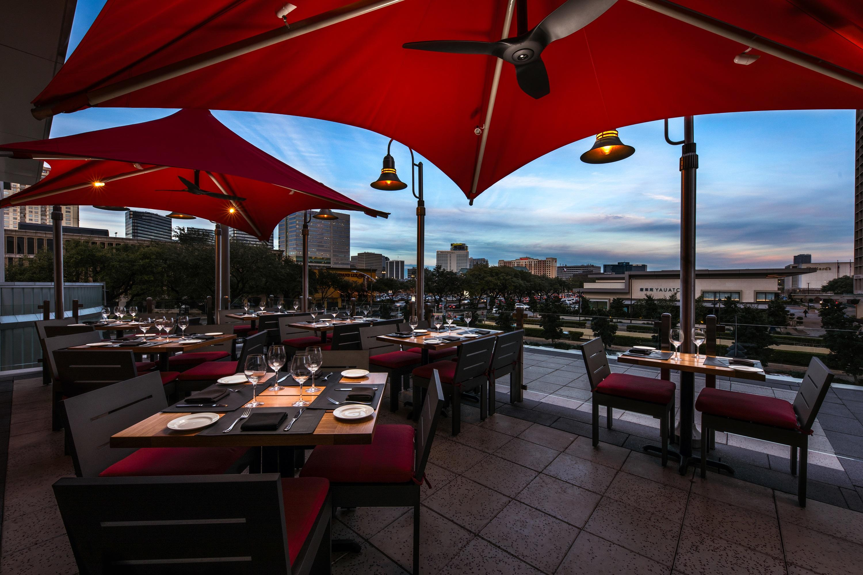 Del Frisco's Double Eagle Steakhouse Houston Outdoor Balcony private dining room