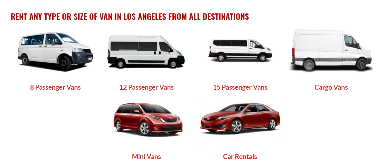 12 Passenger Van Rental Chicago >> All Destination Van Rental Coupons near me in Tarzana ...