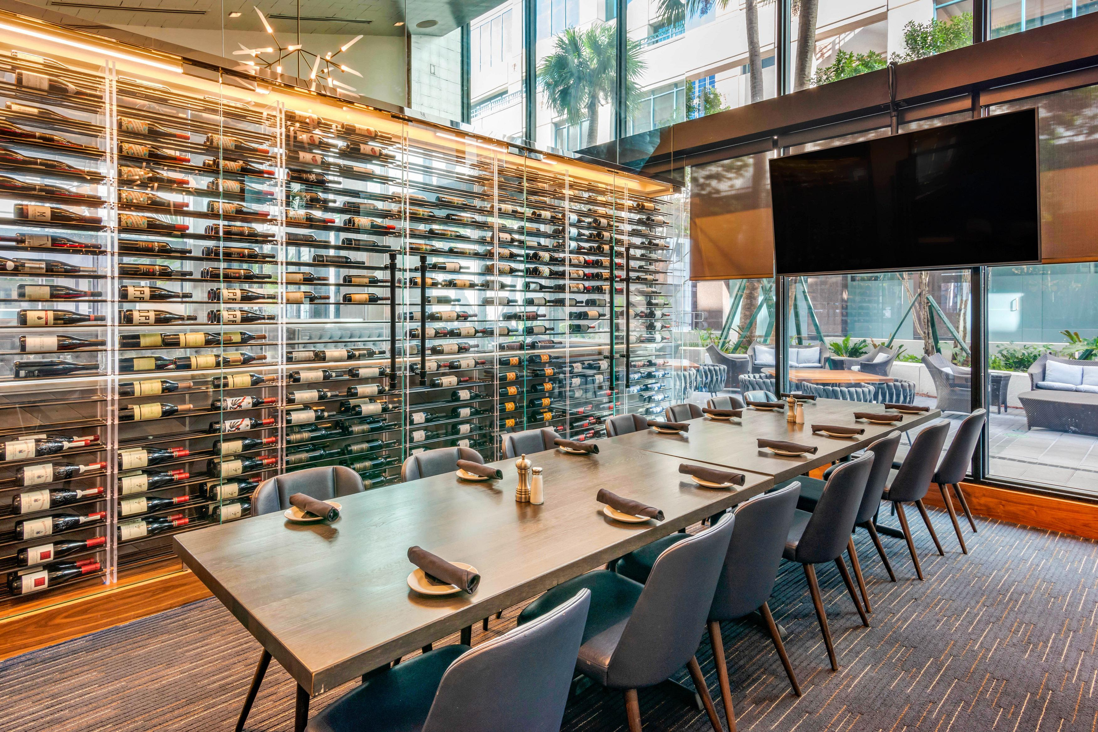Del Frisco's Grille Fort Lauderdale Port Room group dining room