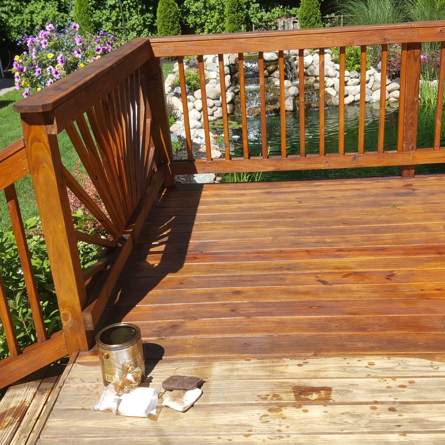image of the Garys deck cleaning