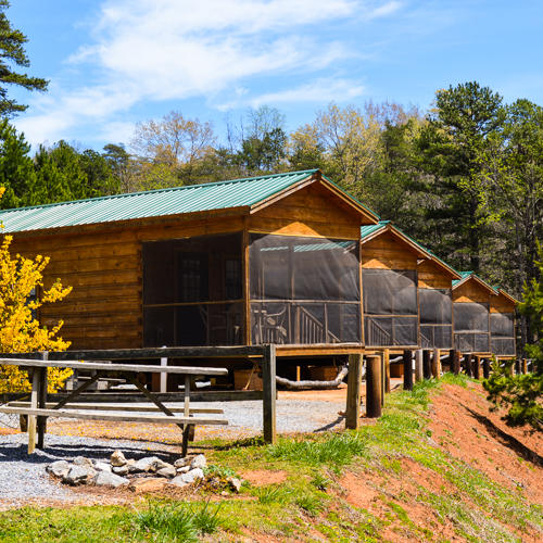 Hidden creek camping resort in marion nc 28752 for Cottages at camp creek