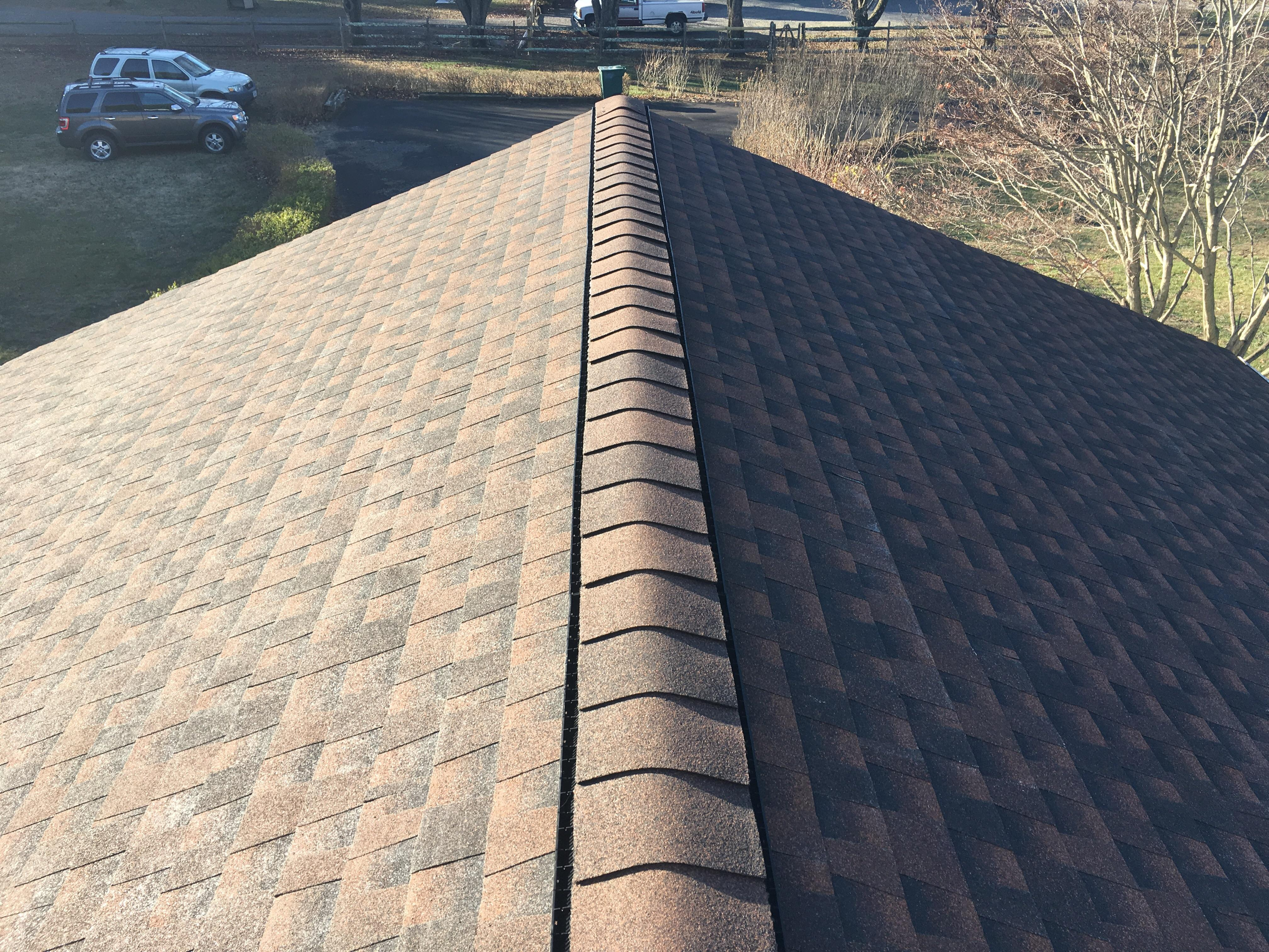 Newly installed roof.
