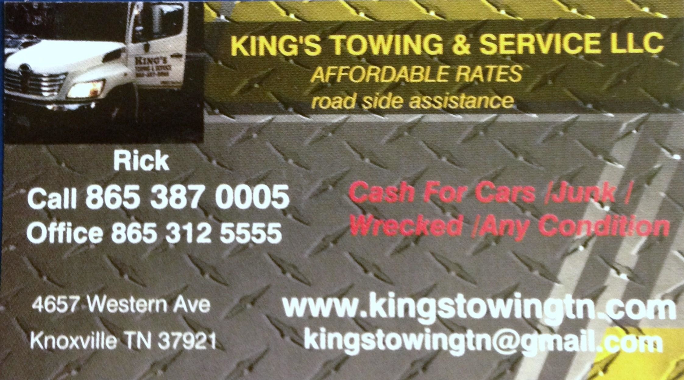 Kings Towing and Service - Knoxville, TN - Auto Towing & Wrecking