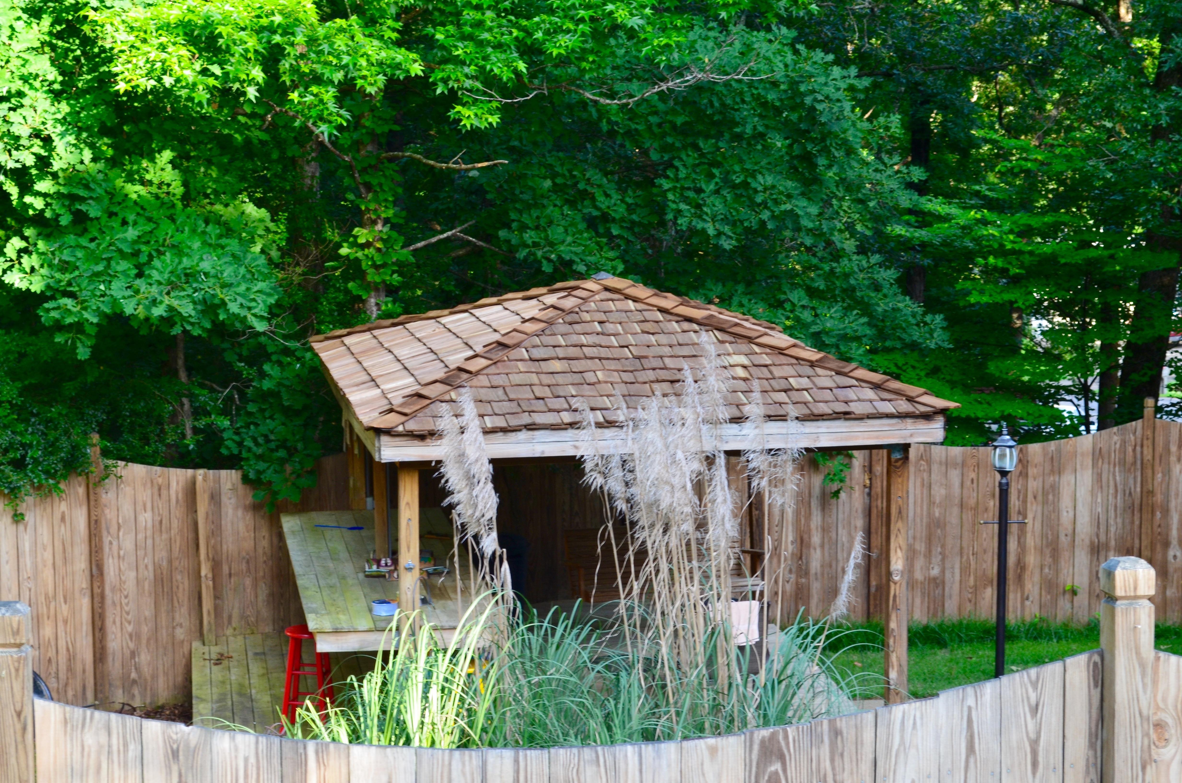 Bessemer cedar shake roof.