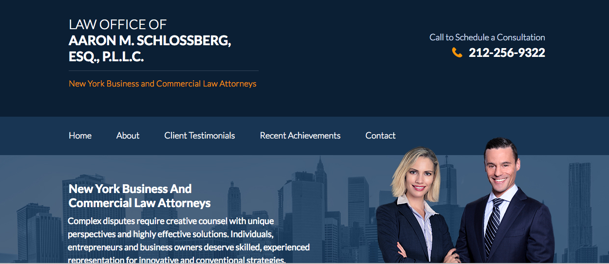 The Law Office Of Aaron M Schlossberg Esq P L L C In