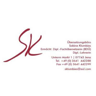 Übersetzungsbüro Sabine Klumbies