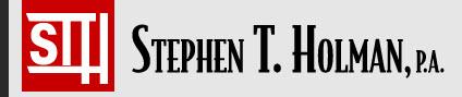 Stephen T. Holman, P.A. - ad image