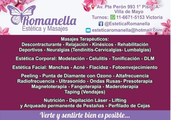 ROMANELLA ESTETICA Y MASAJES