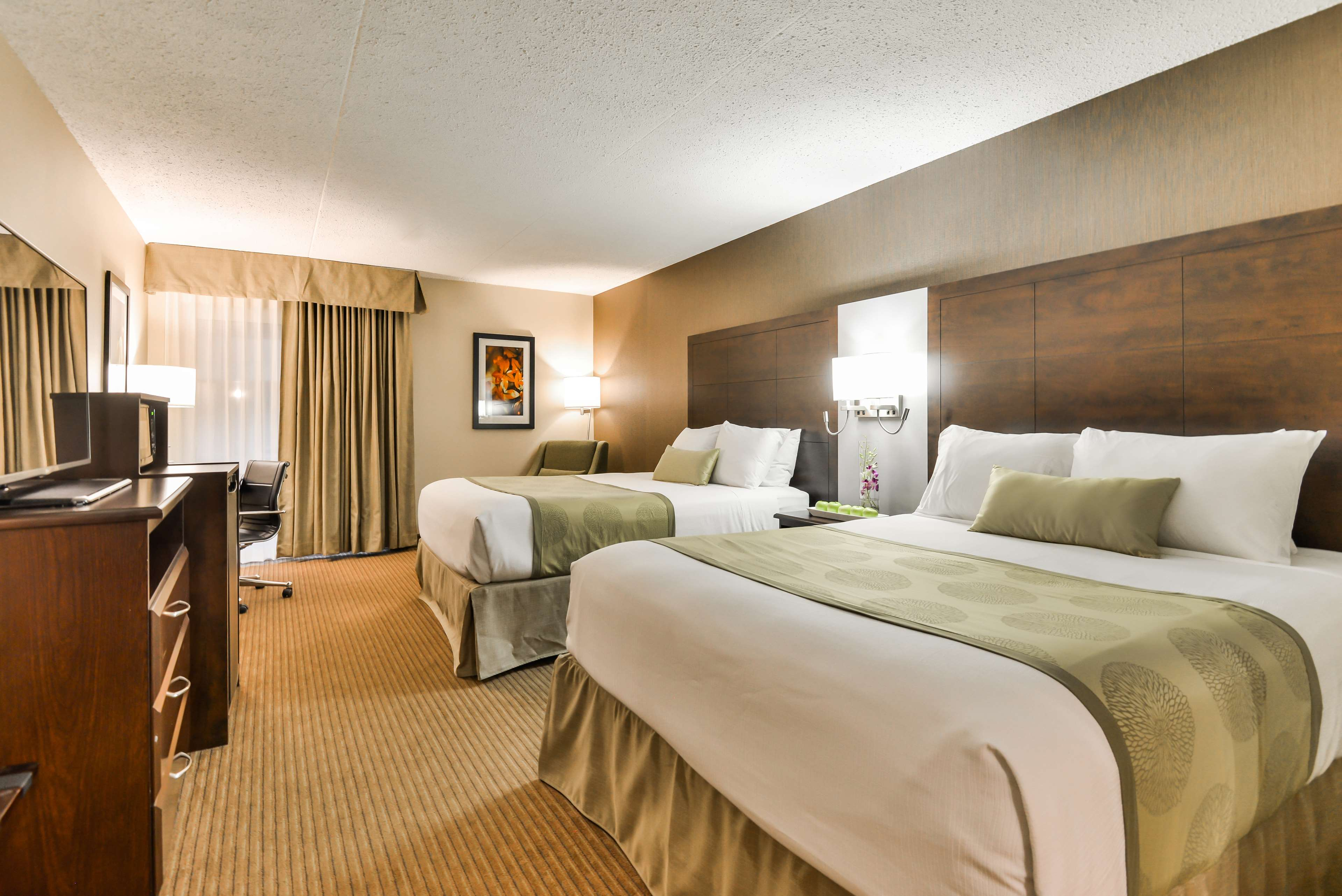Two Queen Bed Guest Room Best Western Plus Leamington Hotel & Conference Centre Leamington (519)326-8646