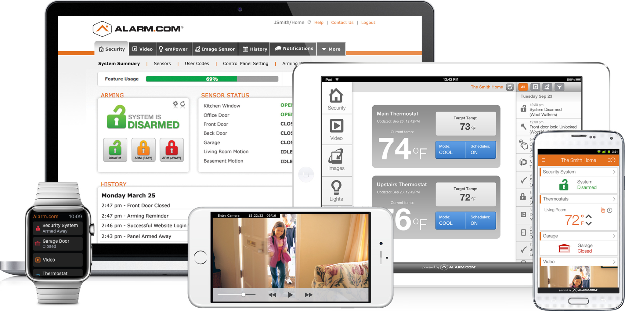 Alarm.com with an Alarm.com-enabled security system, you can monitor and control your home or busine Best Security Okanagan Kelowna (250)826-8395