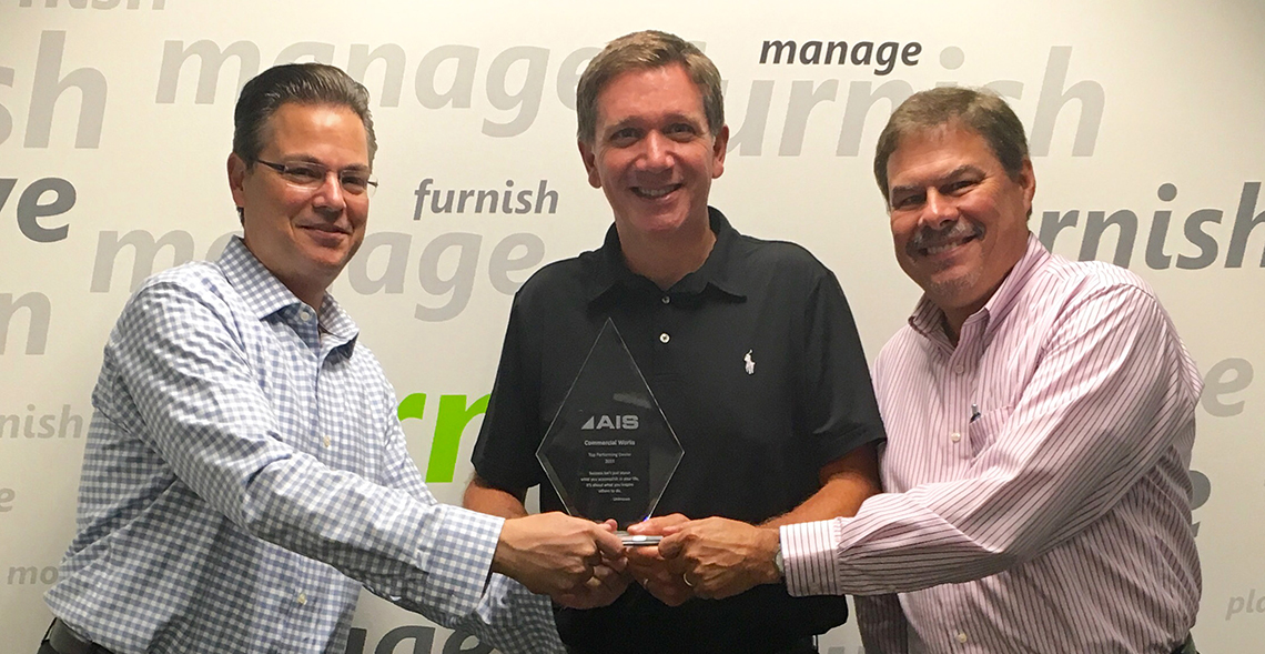 As a top performing dealership for AIS, Commercial Works received special recognition for sales achievement.