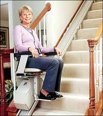 Stair Lift Specialists:  indoor StairLifts outdoor Bruno acorn stairway staircase outside exterior custom curve chair lift