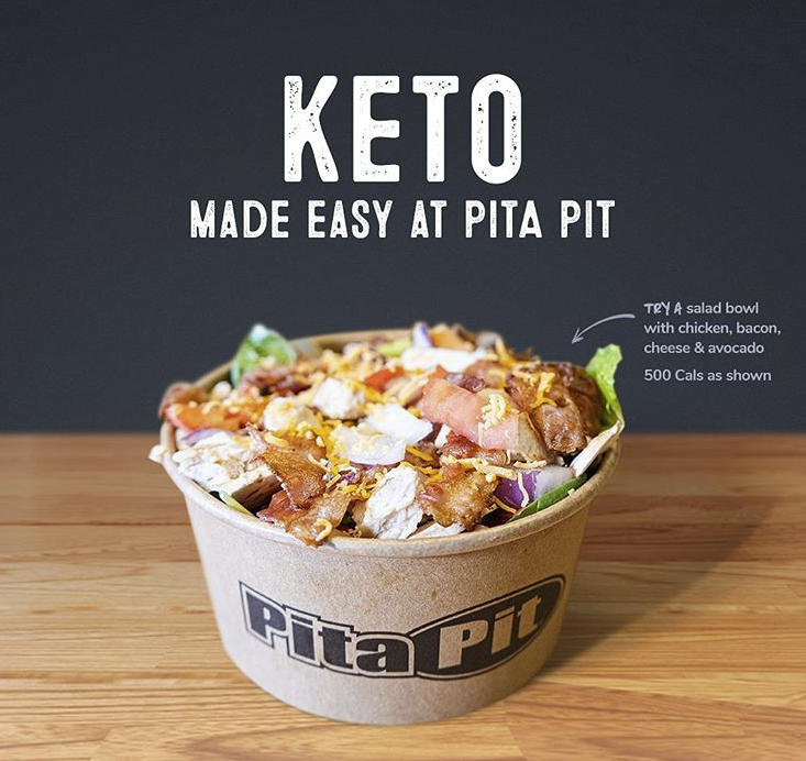 Pita Pit in Guelph: Thinking about eating keto? Pita Pit makes it easy.  Check out our keto guide online through the link in our bio. ⠀