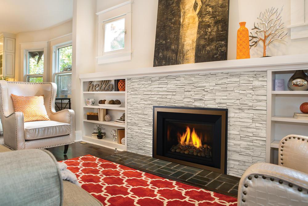 Fireplace Gallery in Edmonton: Large Contemporary Gas Fireplace Insert - Regency Horizon HRI6