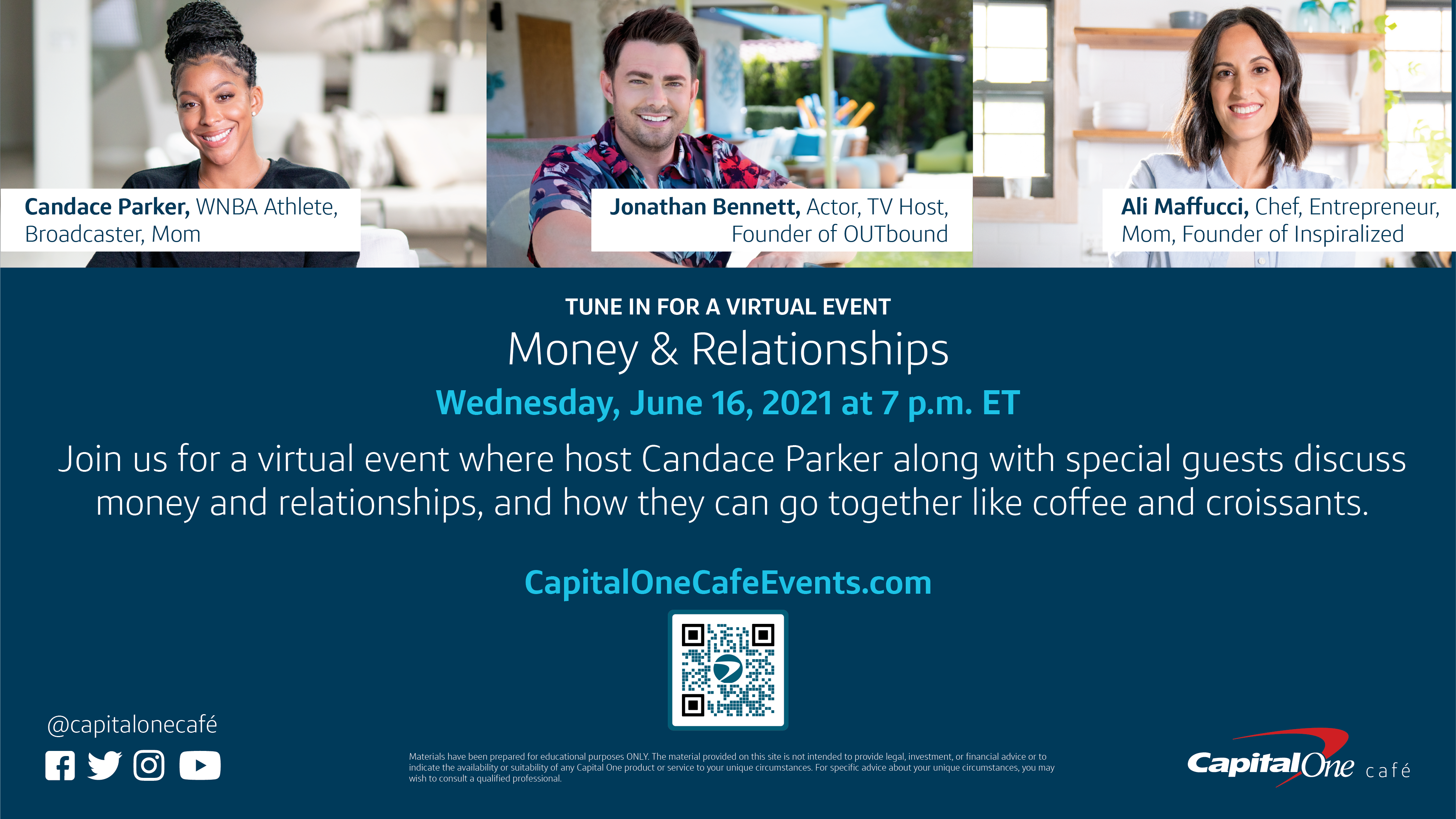 Money & Relationships | A Virtual Event by Capital One Cafés