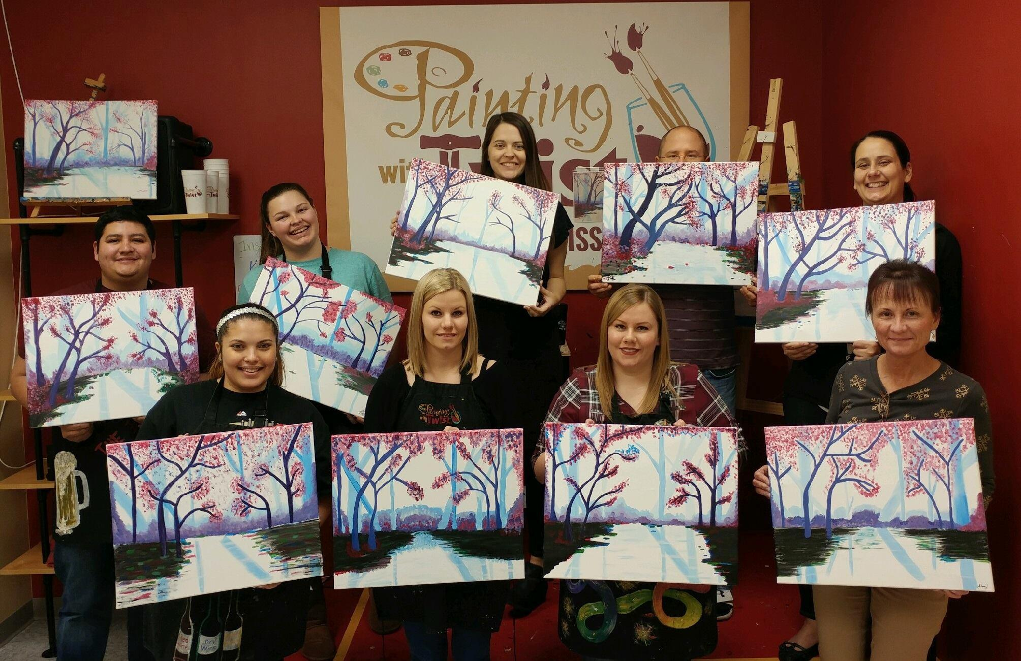 painting with a twist in saint peters mo 63376