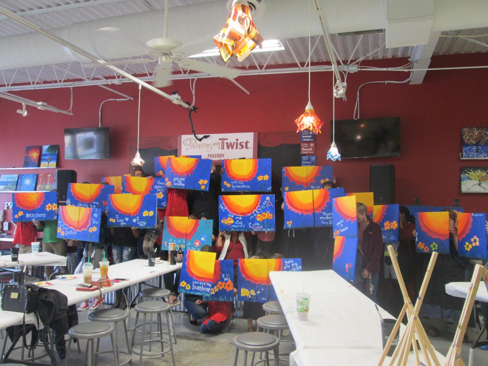 Painting with a twist coupons near me in indianapolis for Wine and paint indianapolis
