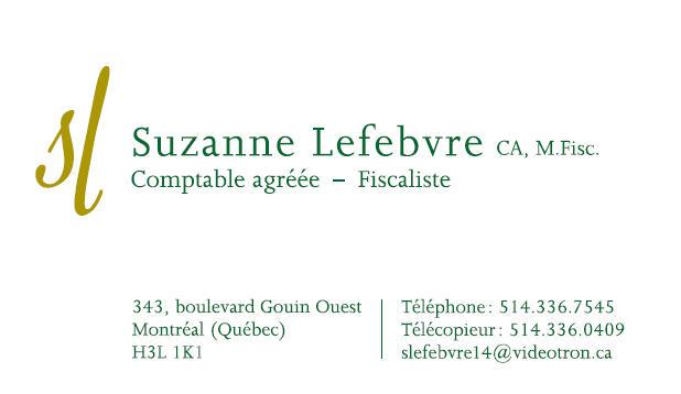 Suzanne Lefebvre CPA