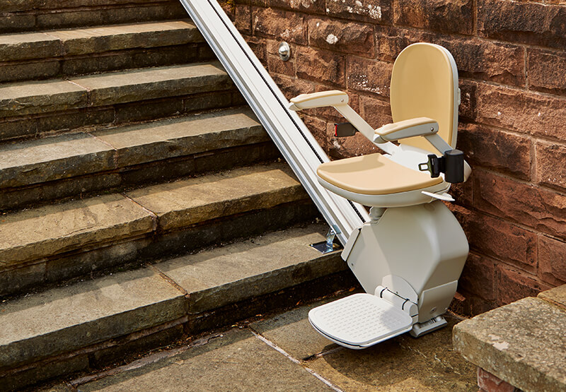 costa mesa stair lifts outside exterior outdoor stairway staircase chair stairlift huntington laguna beach garden grove dealer