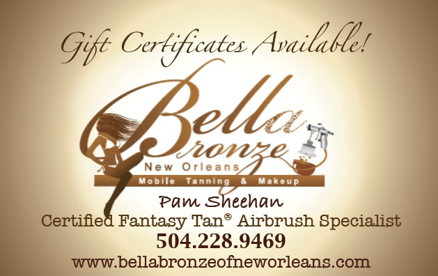 image of the Bella Bronze of New Orleans Mobile Airbrush Tanning Service