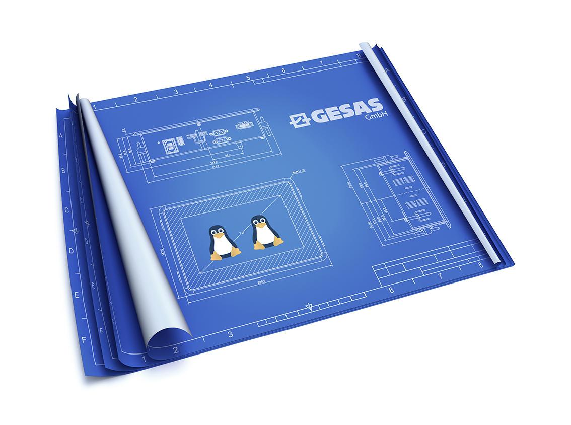 Das HMI-Panel von GESAS mit kapazitivem Touchscreen Displays besitzt einen weiten Einblicksblickwinkel für den optimalen Überblick aller Maschinen- und Anlagenzustände.
