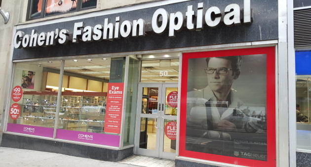 Cohen S Fashion Optical Exam Cost