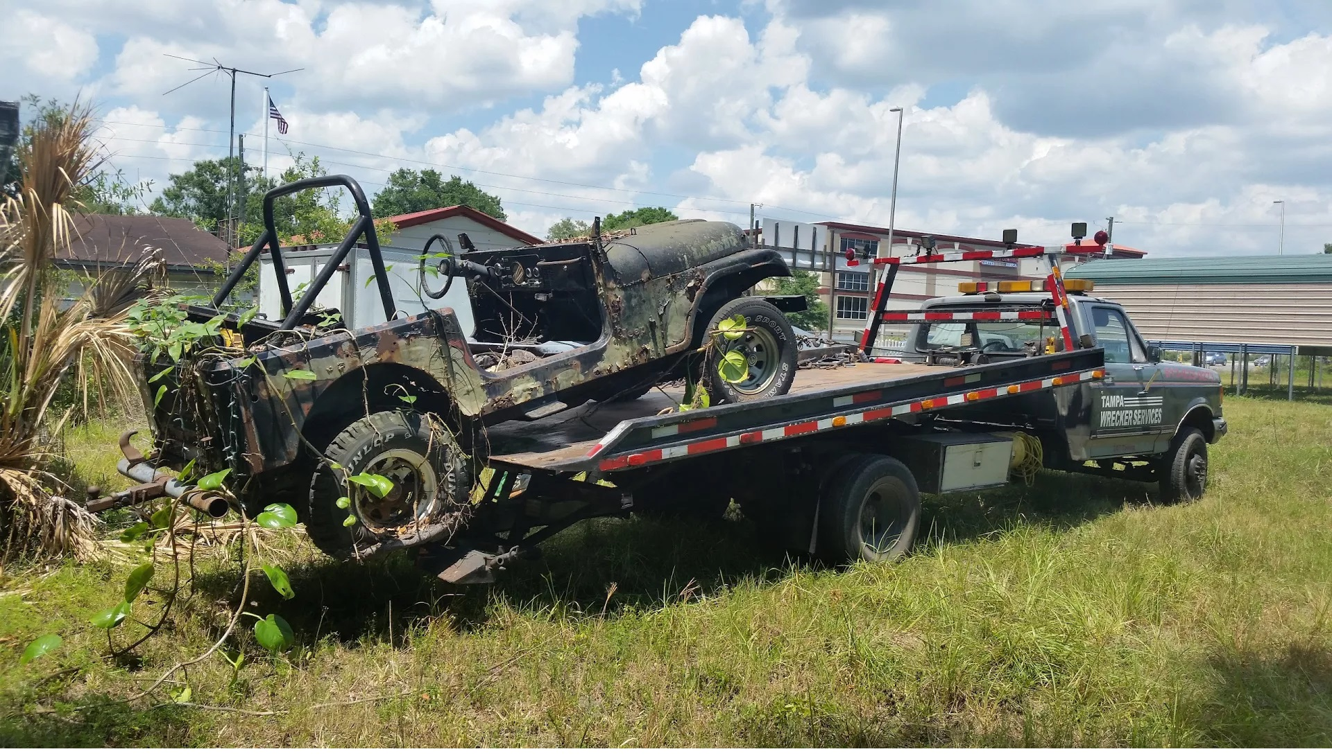 military jeep, had better days