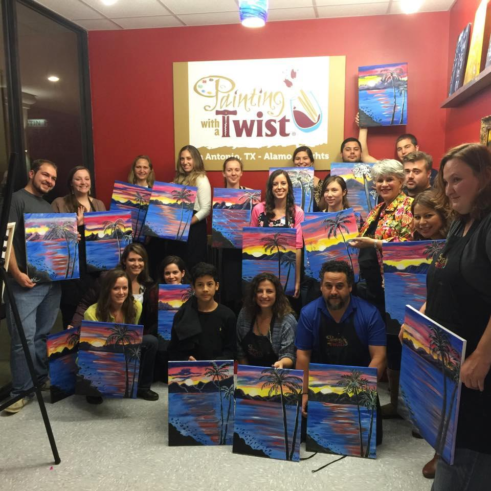 Painting with a twist coupons near me in san antonio for Wine and paint san antonio