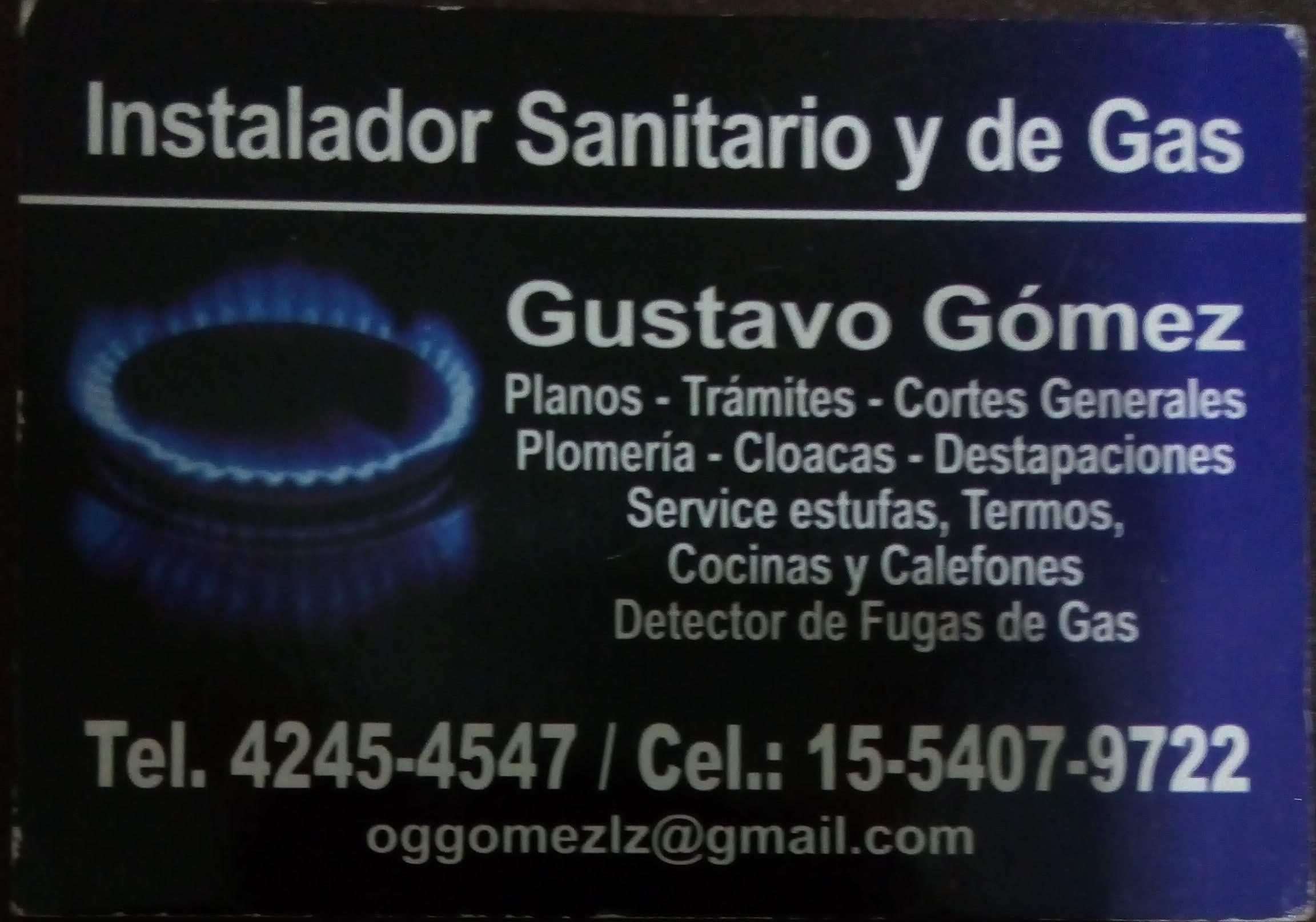 PLOMERO Y GASISTA MATRICULADO EN LOMAS DE ZAMORA - GUSTAVO GOMEZ