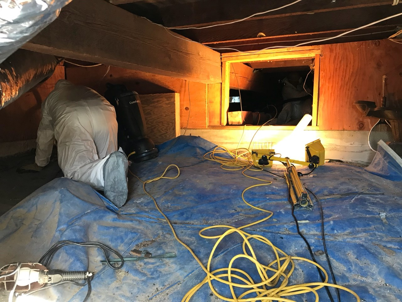 water damage to a crawl space in Long Beach