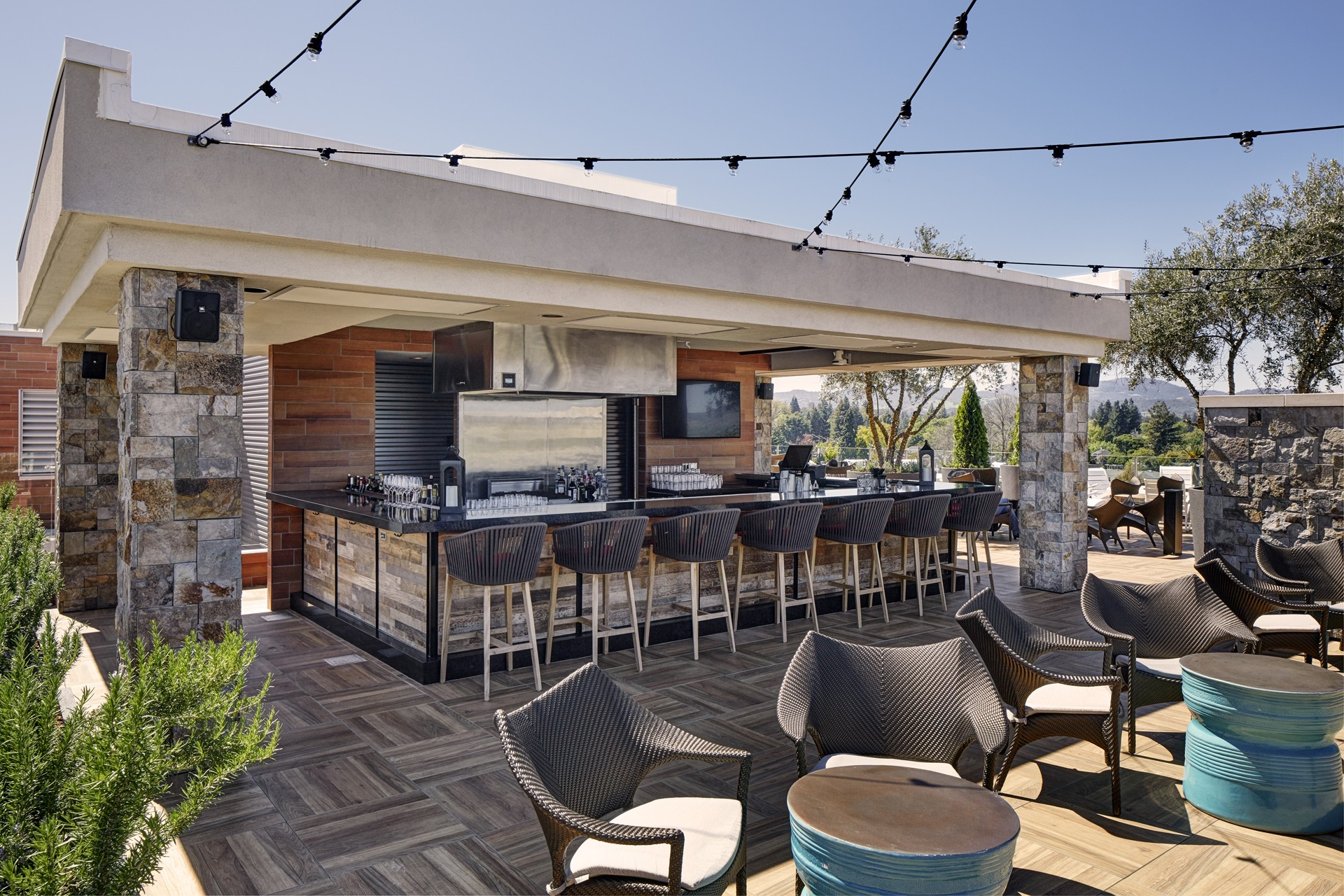 Rooftop Bar Seating