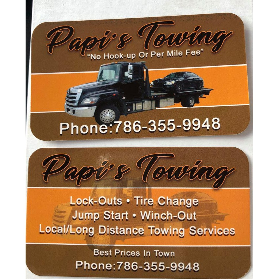 Papi's Towing - Hollywood, FL 33024 - (786)355-9948 | ShowMeLocal.com