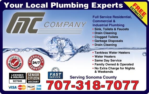GAC Plumbing Company GAC Plumbing Company Rohnert Park (707)538-5325